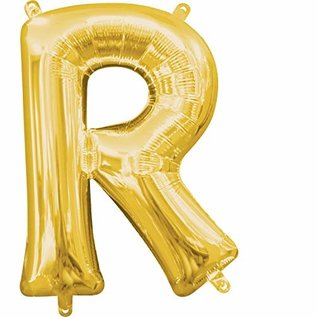 "Foil Balloon-Air Fill-Letter ""R""-Gold"