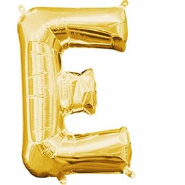 "Foil Balloon-Air Fill-Letter ""E""-Gold"