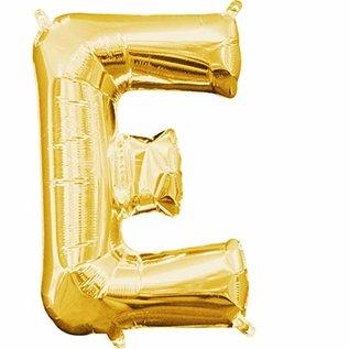 "Foil Balloon-Air Fill-Letter ""E""-Gold"