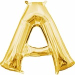 "Foil Balloon-Air Fill-Letter ""A""-Gold"