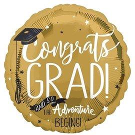 """Foil Balloon - Congrats Grad - 18"""""""
