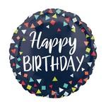 "Foil Balloon-Happy Birthday-17"""