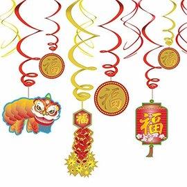 Swirl Decorations- Chinese New Year-12pcs