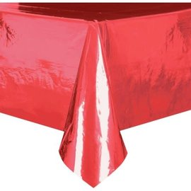 Table Cover-Metallic Red-54''x108''-Plastic