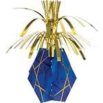 "Centerpiece-Navy Blue & Gold Geode/12"""