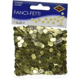 Fancy Confetti Dots- Gold-1oz