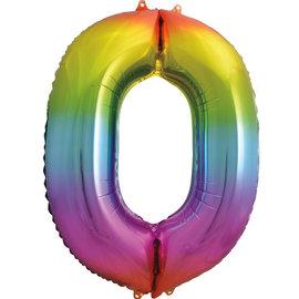 """Foil Balloon - Rainbow #0 - 34"""""""