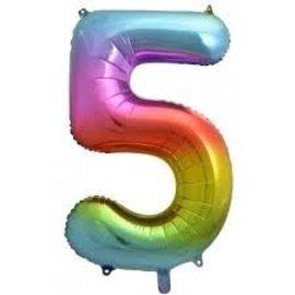 """Foil Balloon - Rainbow #5 - 34"""""""