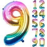 """Foil Balloon - Rainbow #9 - 34"""""""