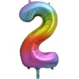 """Foil Balloon - Rainbow #2 - 34"""""""