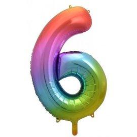 """Foil Balloon - Rainbow #6 - 34"""""""