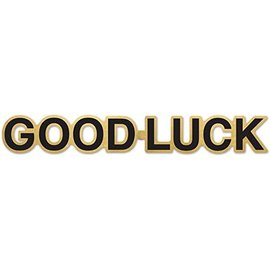 Foil Streamer-Good Luck-Black & Gold-35''