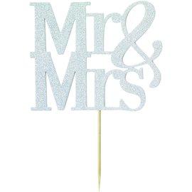 Cake Topper-Mr & Mrs-Rose Gold-1pc