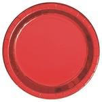 Plates-LN-Metallic Red-8pk-Paper