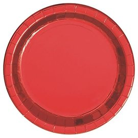 Plates-LN-Metallic Red-8pk-Paper