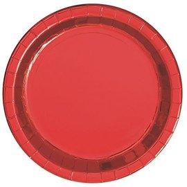 Plates-BEV-Metallic Red-8pk-Paper