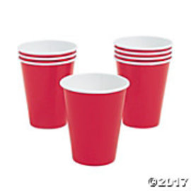 Cups-Metallic Red-8pk-Paper