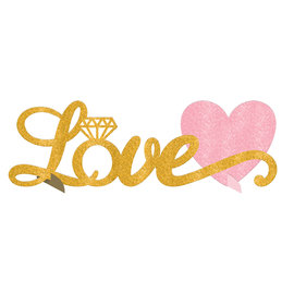 Glitter Table Decoration LOVE Sign