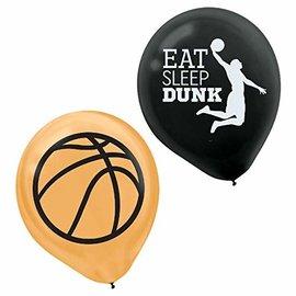 "Balloons-Latex-Basket Ball-6pk-12"""