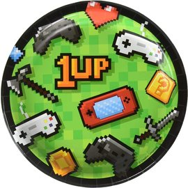 Beverage Paper Plates- Gaming Party- 8pk-7""