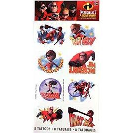 Tattoos - Incredibles2- 8pk