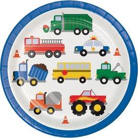 Plates-L/P-Traffic Jam- 8 3/4-8pcs