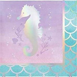 Beverage Napkin-Mermaid Shine-16pk-3ply
