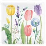 Beverage Plates -Tulip Garden