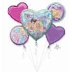 Foil Balloons Bouquet - 5 Pk Barbie