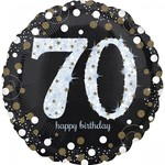 "Foil Balloon - Sparkling Birthday - 70th - 28"""