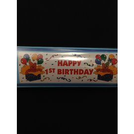 Banner-Happy 1st Bday-Plastic-20''x65''