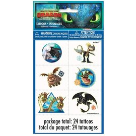 Tattoos-How To Train Your Dragon: Hidden World-24pcs