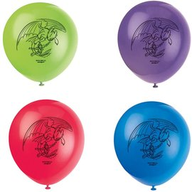 Balloons-Latex-How To Train Your Dragon: Hidden World-8pk