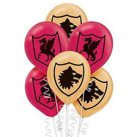 Balloons- Latex- Medieval- 6pk