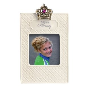 Photo Frame-Miss February-Holds 2.5''x2.5'' Photo