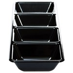 Long 4 Compartment Tray - Black