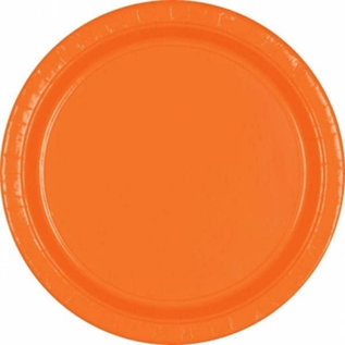 "Paper Plates 20pc Orange Peel 9"""