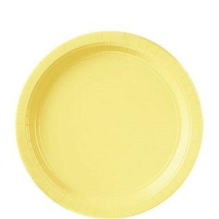 "Paper Plates 20pc Light Yellow 9"""