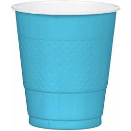 Plastic Cups-Caribbean Blue-20pk