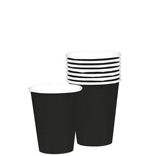 Paper Cups 12oz Jet Black 20pc