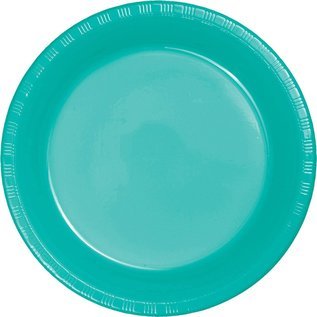 "Plastic Plates 20pcs - Teal Lagoon (9"")- Discontinued"