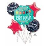 Foil Balloons -  Happy Birthday - Reason to Celebrate- 5 Pk