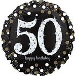 Foil Balloon-Supershape-Sparkling 50th Birthday