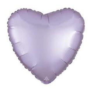 foil balloon - heart- lilac