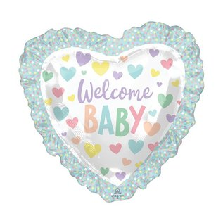 Foil Balloon - Super Shape - Welcome baby - 28''