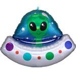 Foil Balloon - Alien Space Ship Iridescent - Super Shape 28''