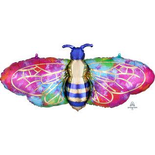 Foil Balloon - Supershape -  Tie-Dye Bee