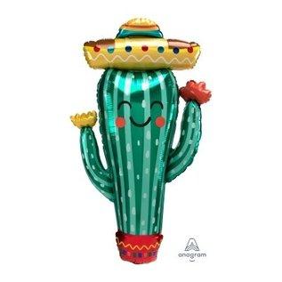 "Foil Balloon - Fiesta Cactus - Super Shape 38"""
