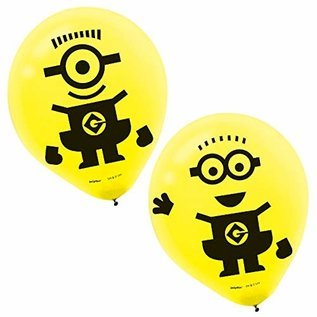6 Latex balloons - Minion
