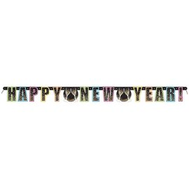 Banner Confetti New Year